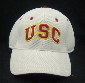 USC Trojans White Elite One Fit Hat