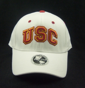 USC Trojans White One Fit Hat