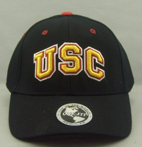 USC Trojans Black One Fit Hat