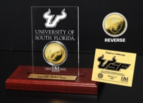 University of South Florida 24KT Gold Coin Etched Acrylic