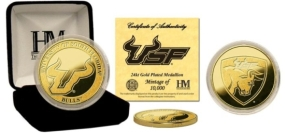 University of South Florida 24KT Gold Coin