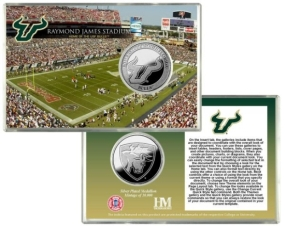 University of South Florida Raymond James Stadium Silver Coin Card