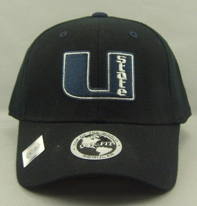 Utah State Aggies Black One Fit Hat