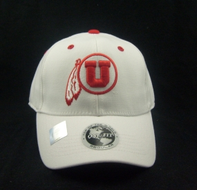 Utah Utes White One Fit Hat