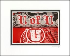 Utah Utes Vintage T-Shirt Sports Art