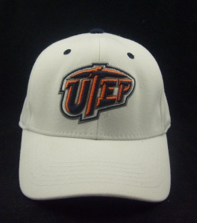 UTEP Miners White One Fit Hat