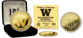University of Washington 24KT Gold Coin