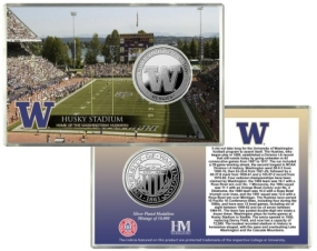 University of Washington Husky Stadium Silver Coin Card