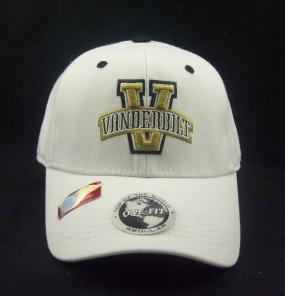 Vanderbilt Commodores White One Fit Hat