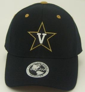 Vanderbilt Commodores Black One Fit Hat