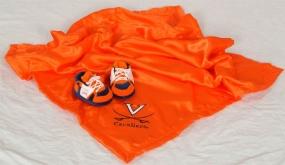 Virginia Cavaliers Baby Blanket and Slippers