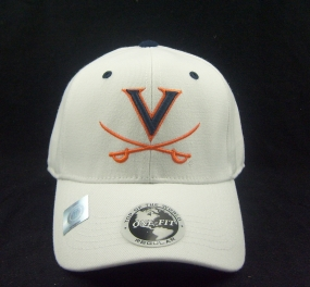 Virginia Cavaliers White One Fit Hat