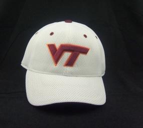 Virginia Tech Hokies White Elite One Fit Hat