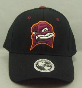 Virginia Tech Hokies Black One Fit Hat