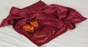 Virginia Tech Hokies Baby Blanket and Slippers