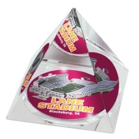 Virginia Tech Hokies Crystal Pyramid