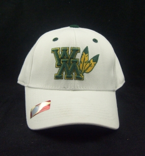 William and Mary Tribe White One Fit Hat