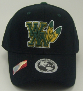 William and Mary Tribe Black One Fit Hat