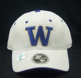 Washington Huskies White Elite One Fit Hat