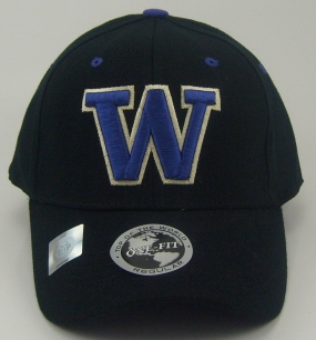 Washington Huskies Black One Fit Hat