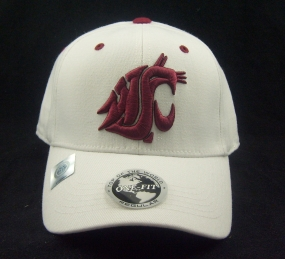 Washington State Cougars White One Fit Hat