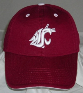 Washington State Cougars Adjustable Crew Hat