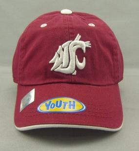 Washington State Cougars Youth Crew Adjustable Hat