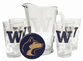 Washington Huskies Pitcher Set