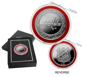 Washington Capitals Silver Coin Ornament