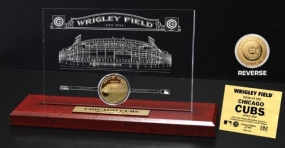 Wrigley Field 24KT Gold Coin Etched Acrylic