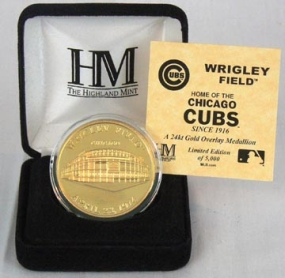 Wrigley Field 24KT Gold Commemorative Coin