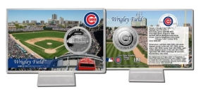 Wrigley Field Silver Plate Coin Card