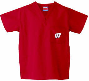 Wisconsin Badgers Scrub Top
