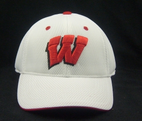 Wisconsin Badgers White Elite One Fit Hat