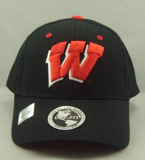 Wisconsin Badgers Black One Fit Hat