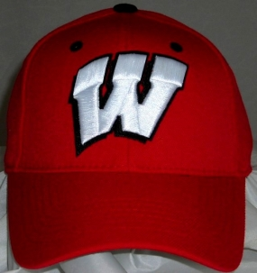 Wisconsin Badgers Team Color One Fit Hat
