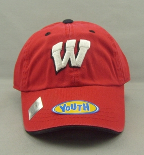 Wisconsin Badgers Youth Crew Adjustable Hat