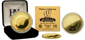 University of Wisconsin 24KT Gold Coin