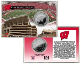 University of Wisconsin Camp Randall Stadium Silver Coin Card