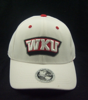 Western Kentucky Hilltoppers White One Fit Hat