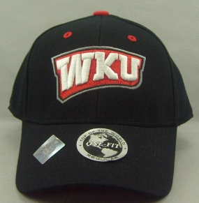 Western Kentucky Hilltoppers Black One Fit Hat