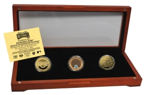WASHINGTON NATIONALS 24kt Gold and Infield Dirt 3 Coin Set