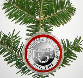 Washington Nationals Silver Coin Ornament
