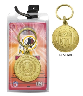 Washington Redskins Bronze Bullion Keychain