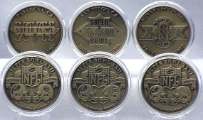 WASHINGTON REDSKINS BRONZE SUPER BOWL COLLECTION