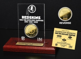 Washington Redskins 3x SB Champs Etched Acrylic