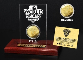 San Francisco Giants 2010 World Series Champions 24KT Gold Etched Acrylic