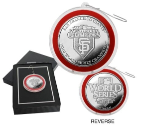 San Francisco Giants 2010 World Series Champions Silver Coin Ornament