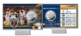 San Francisco Giants 2010 WS Champs Silver Plate Coin Card