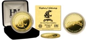 Washington State University 24KT Gold Coin
